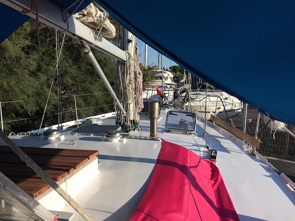 combien coûte une peinture de pont sur un 44pieds alu?