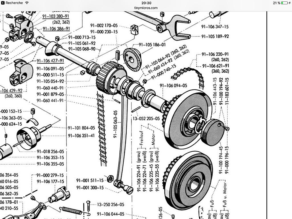 Machine à Coudre Industrielle Courroie V Fixation Universelle Toutes Taille